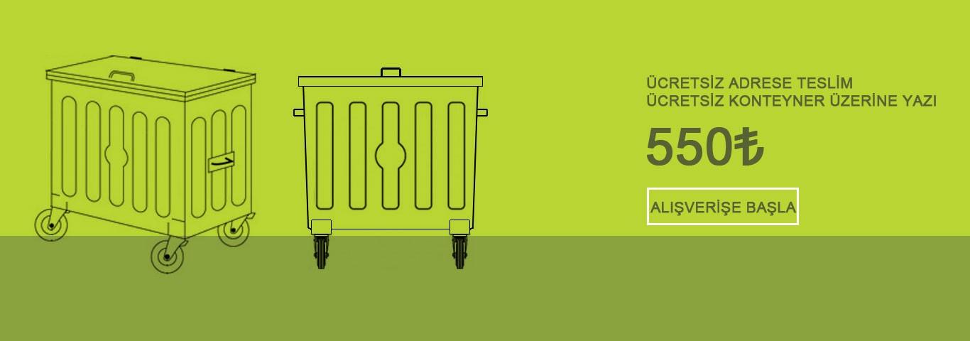Metal Çöp Konteyner de KAMPANYA! Ücretsiz Teslim